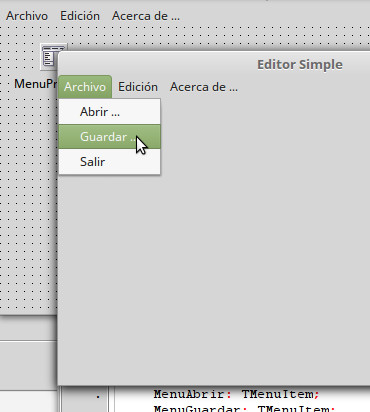 Editor simple en Lazarus - 01